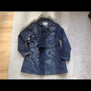 Banana Republic Polka Dot Trench Coat